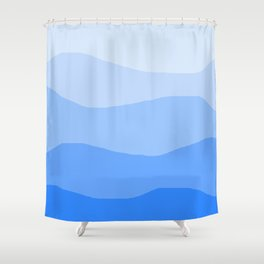 The Hills Have Spines - Blue Shower Curtain