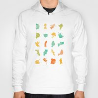 cities Hoodies featuring Pop Cities by Nicksman