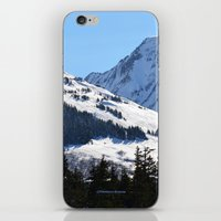 skiing iPhone & iPod Skins featuring Back-Country Skiing  - I by Alaskan Momma Bear
