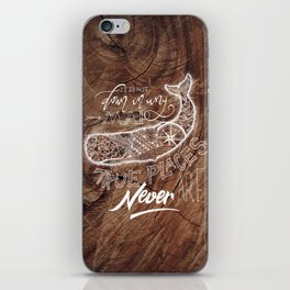WOODEN WHALE iPhone Skin