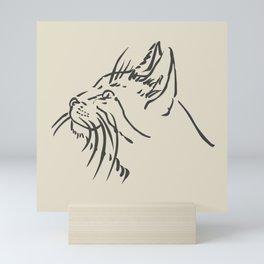 Wishful Whiskers Cat Mini Art Print