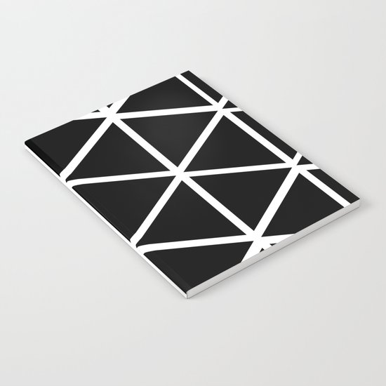 BLACK & WHITE TRIANGLES 2 Notebook