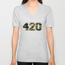 Camo 420 Unisex V-Neck