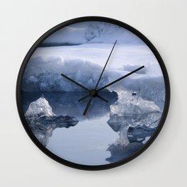Glacier Lagoon Wall Clock