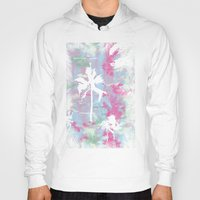 palm trees Hoodies featuring Palm Trees by Wendy Ding: Illustration