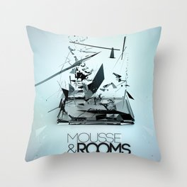 Mousse & Rooms Throw Pillow