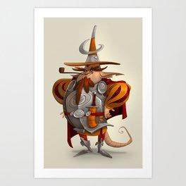 Moon Soldier Art Print