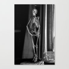 The Skeleton by the Printer Canvas Print