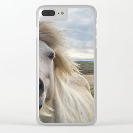Icelandic Horse. Clear iPhone Case
