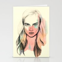 cara Stationery Cards featuring Cara by Beth Zimmerman Illustration