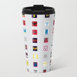 Minimalism robots (Good natured / Defenders) Metal Travel Mug
