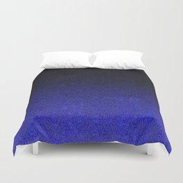 Blue & Black Glitter Gradient Duvet Cover