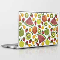 fruits Laptop & iPad Skins featuring fruits by Ana Rey