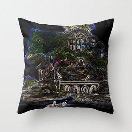 Velvet Island Throw Pillow