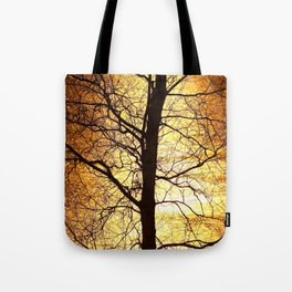 Tree Silhouette At Sunset #decor #society6 Tote Bag