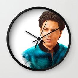 Shah Rukh Khan is a King of Bollywood, Digital Painting Wall Clock