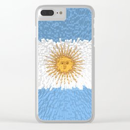 Extruded Flag of Argentina Clear iPhone Case