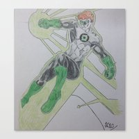super hero Canvas Prints featuring Super Hero by Robs art