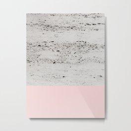 Blush on Concrete #1 #decor #art #society6 Metal Print
