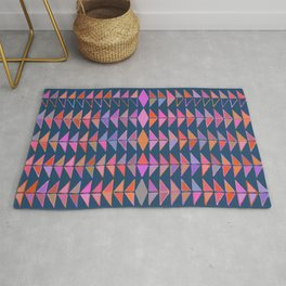 Colorful Triangles Rug