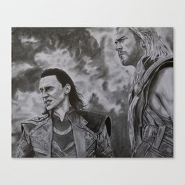 Thor and Loki, The Dark World Canvas Print