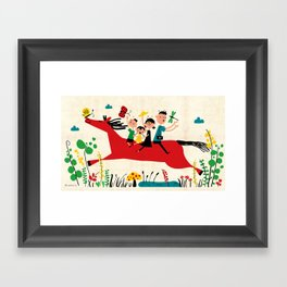happy horse Framed Art Print