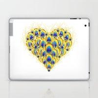 Peacock Heart Laptop & iPad Skin