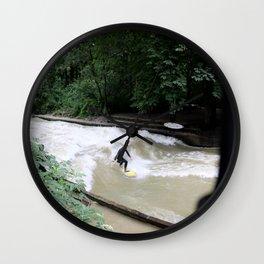 Perpetual Surfer Wall Clock