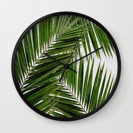 Palm Leaf III Wall Clock