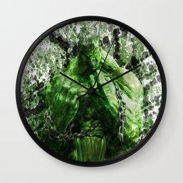 Green Hero Wall Clock