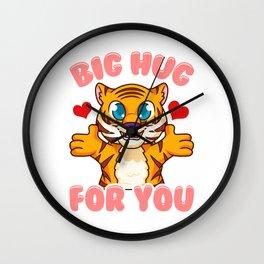 Cute & Funny Big Hug For You Adorable Baby Tiger Wall Clock