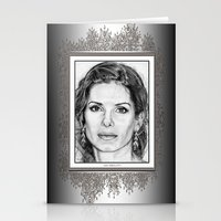 sandra dieckmann Stationery Cards featuring Sandra Bullock in 2005 by JMcCombie