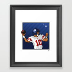 Eli - the SuperBowl MVP Framed Art Print