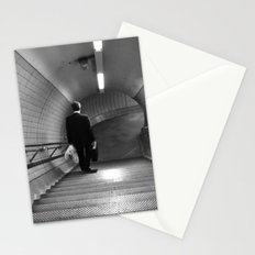 Empty London Underground stairs Stationery Cards