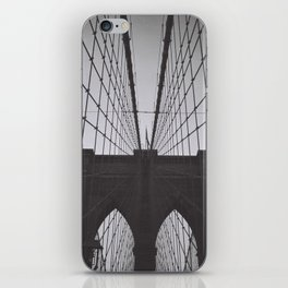 New York Brooklyn Bridge iconic black and white photograph zolliophone shop iPhone Skin