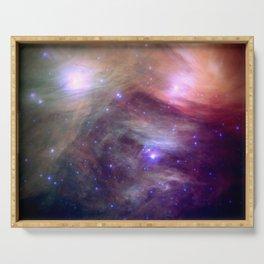 Galaxy : Pleiades Star Cluster NeBula Serving Tray