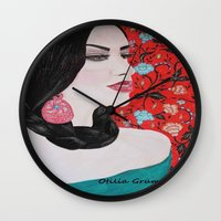 spanish Wall Clocks featuring Spanish Dreaming by otilia elena