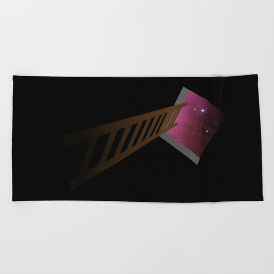 Escape to heaven - pink Beach Towel