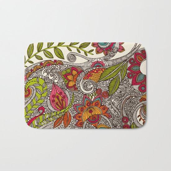 Random Flowers Bath Mat