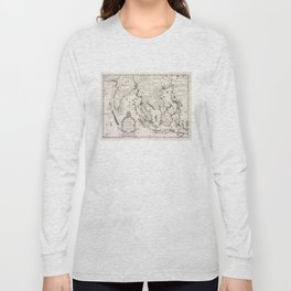 Vintage Map of Indonesia (1700) Long Sleeve T-shirt