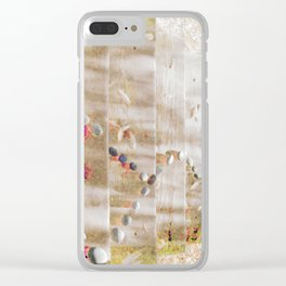 Space & Line #3 Clear iPhone Case