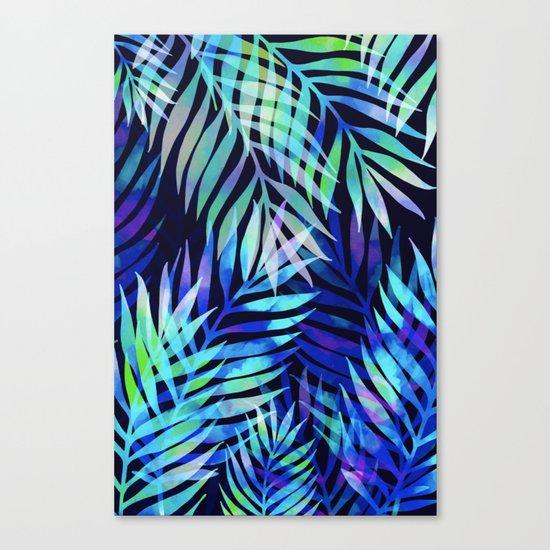 Watercolor palm pattern Canvas Print
