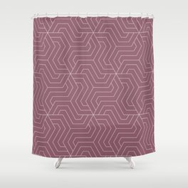 Raspberry glace - violet - Modern Vector Seamless Pattern Shower Curtain