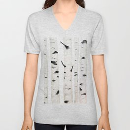 birch  watercolor Unisex V-Neck