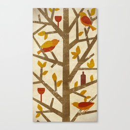 birds and wine Canvas Print