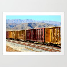 A Rail of Color Art Print