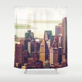 New York City Skyline Colors Shower Curtain