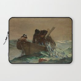 The Herring Net - George's Bank, New England maritime landscape by Winslow H-o-m-e-r Laptop Sleeve