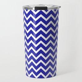 Zigzag (Navy & White Pattern) Travel Mug