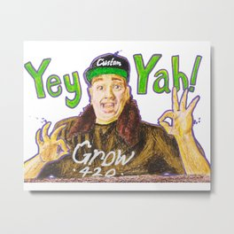 Customgrow420 YEY-YAH! Oil Pastel & Acrylic Metal Print